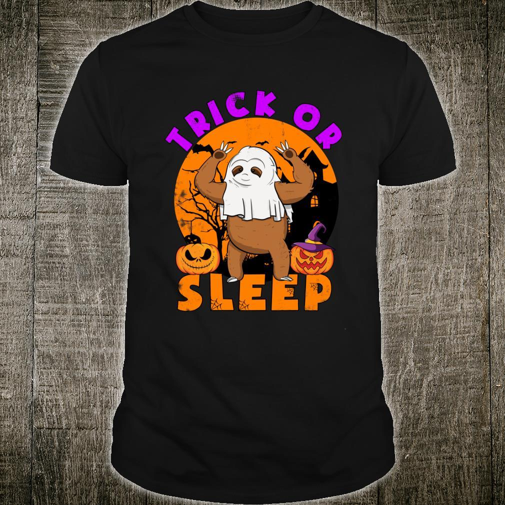 Trick or Sleep Pun Sloth Halloween Shirt