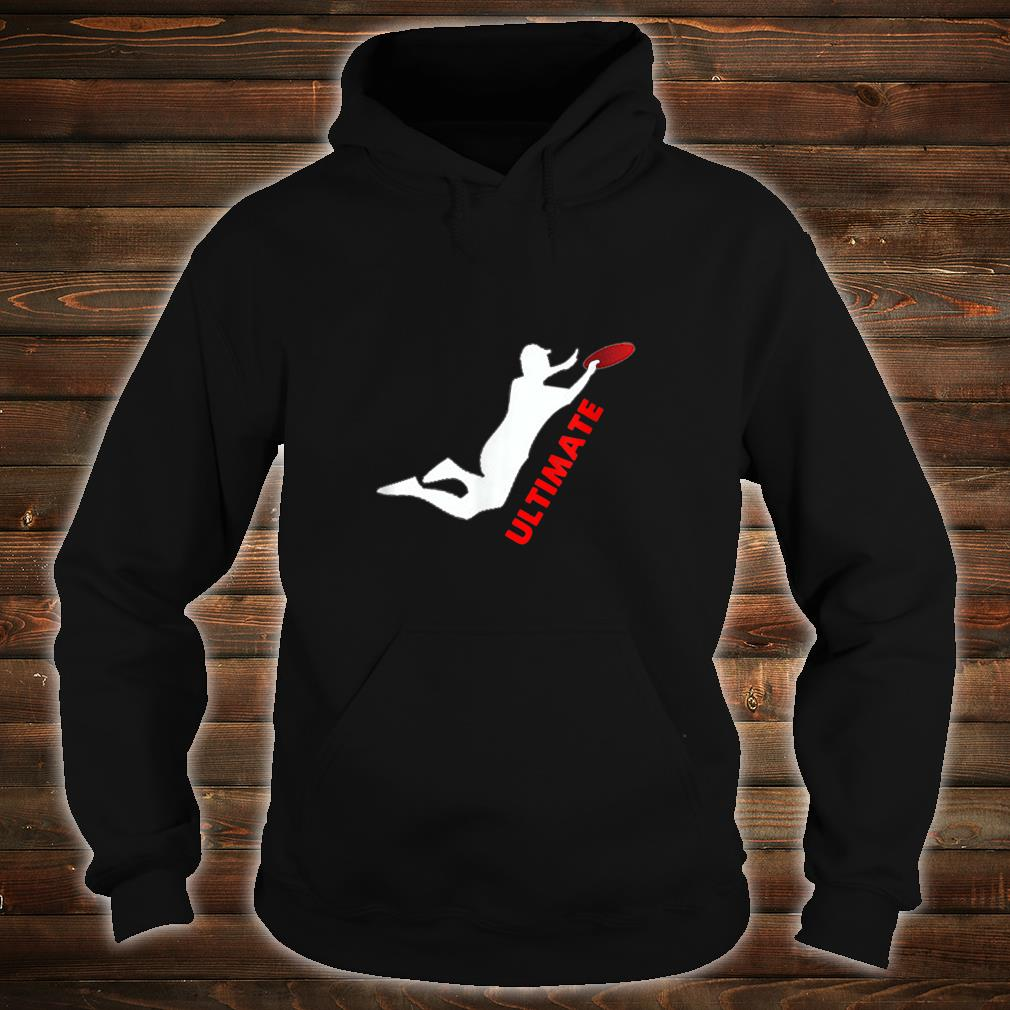 Ultimate Frisbee Silhouette Frisbee Jumping Catch Shirt hoodie