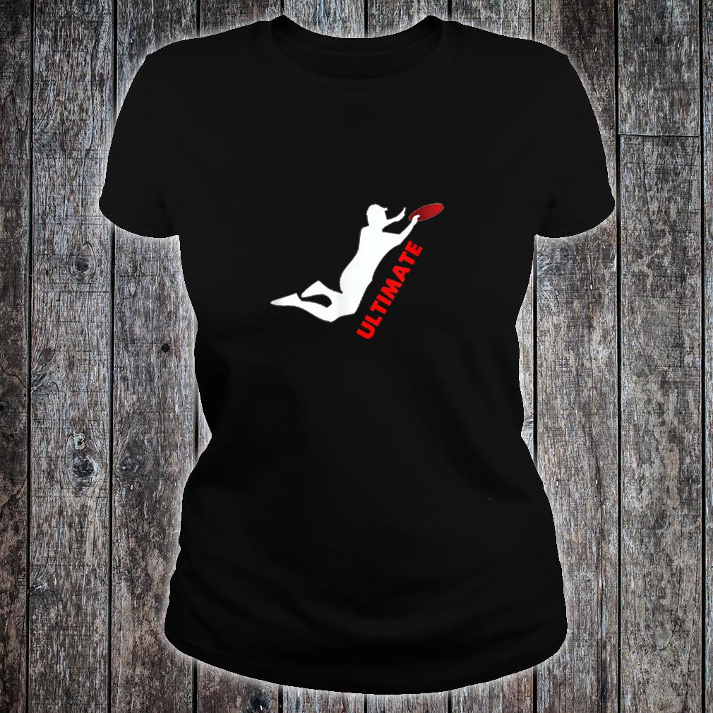Ultimate Frisbee Silhouette Frisbee Jumping Catch Shirt ladies tee