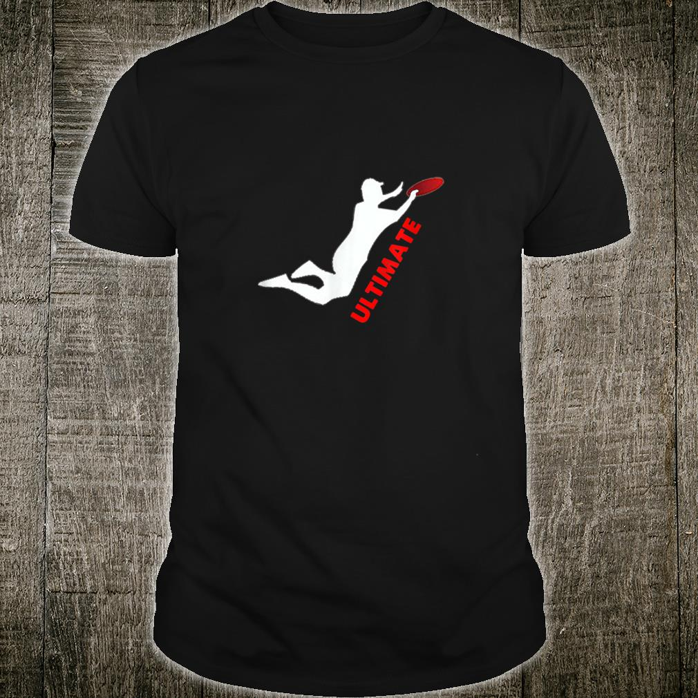 Ultimate Frisbee Silhouette Frisbee Jumping Catch Shirt