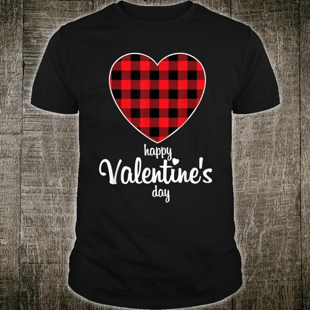 Valentine Heart Buffalo Red Plaid Happy Valentine's day Shirt