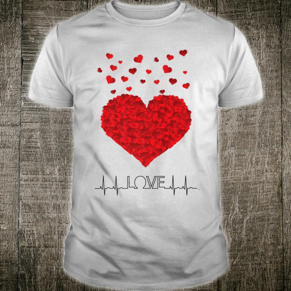 Valentine's Day Heart Rate Pulse Love Shirt
