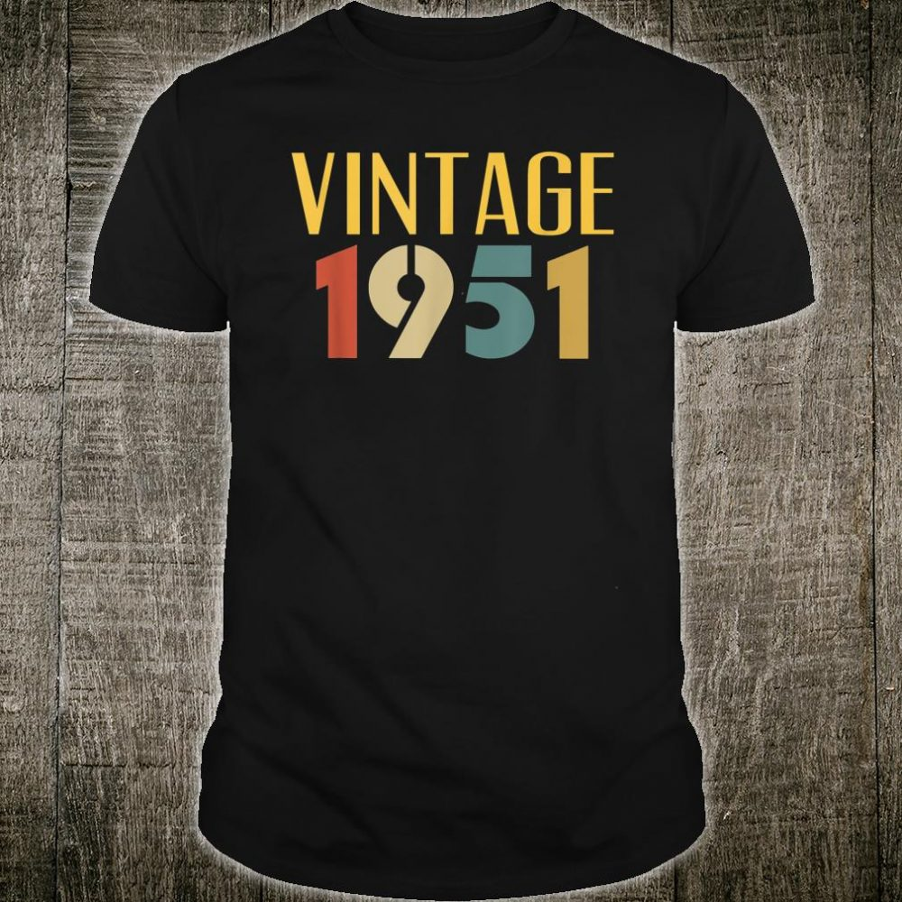 Vintage 1951 Cool 69 Year Old 69th Birthday Shirt