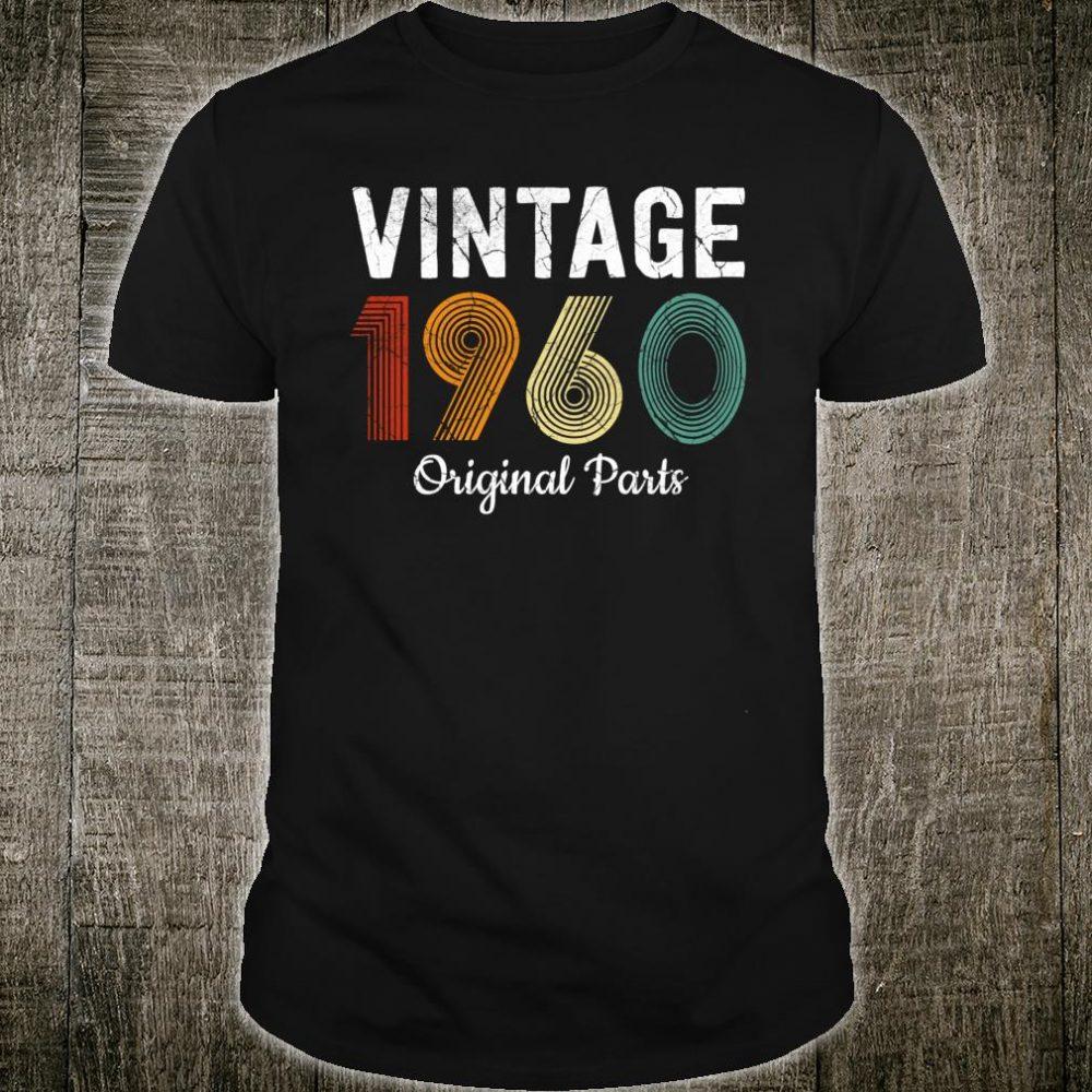 Vintage 1960 Retro 60 Year Old Shirt