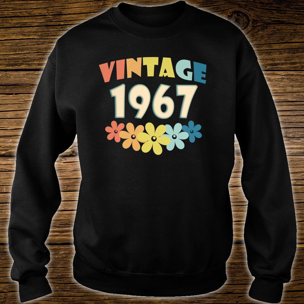 Vintage 1967 Flowers 53h Birthday 53 Years Old Shirt sweater