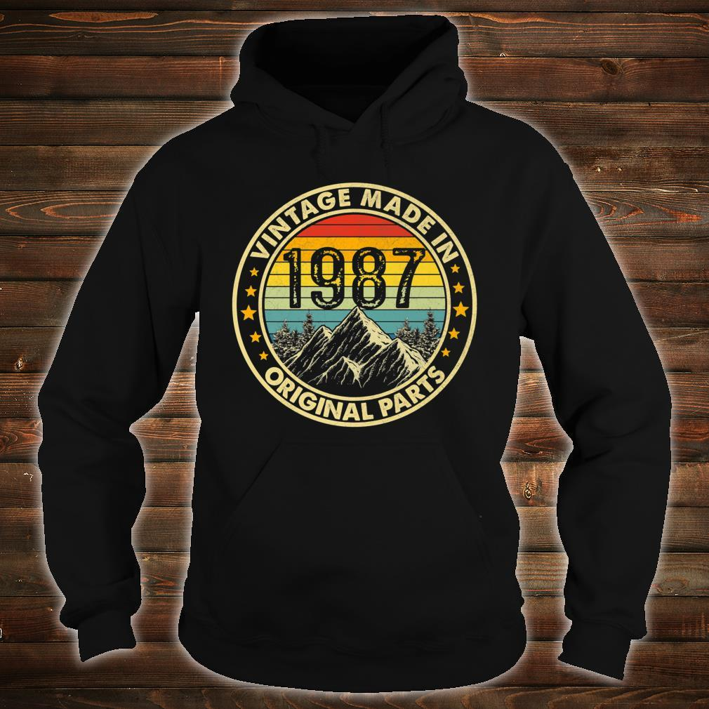 Vintage 1987 Limited Edition 34th Bday Shirt hoodie