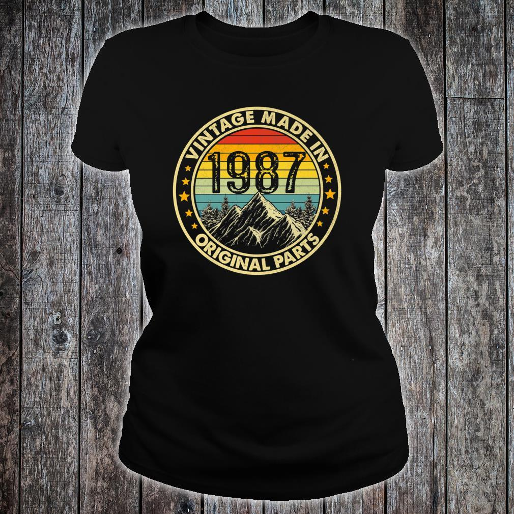 Vintage 1987 Limited Edition 34th Bday Shirt ladies tee
