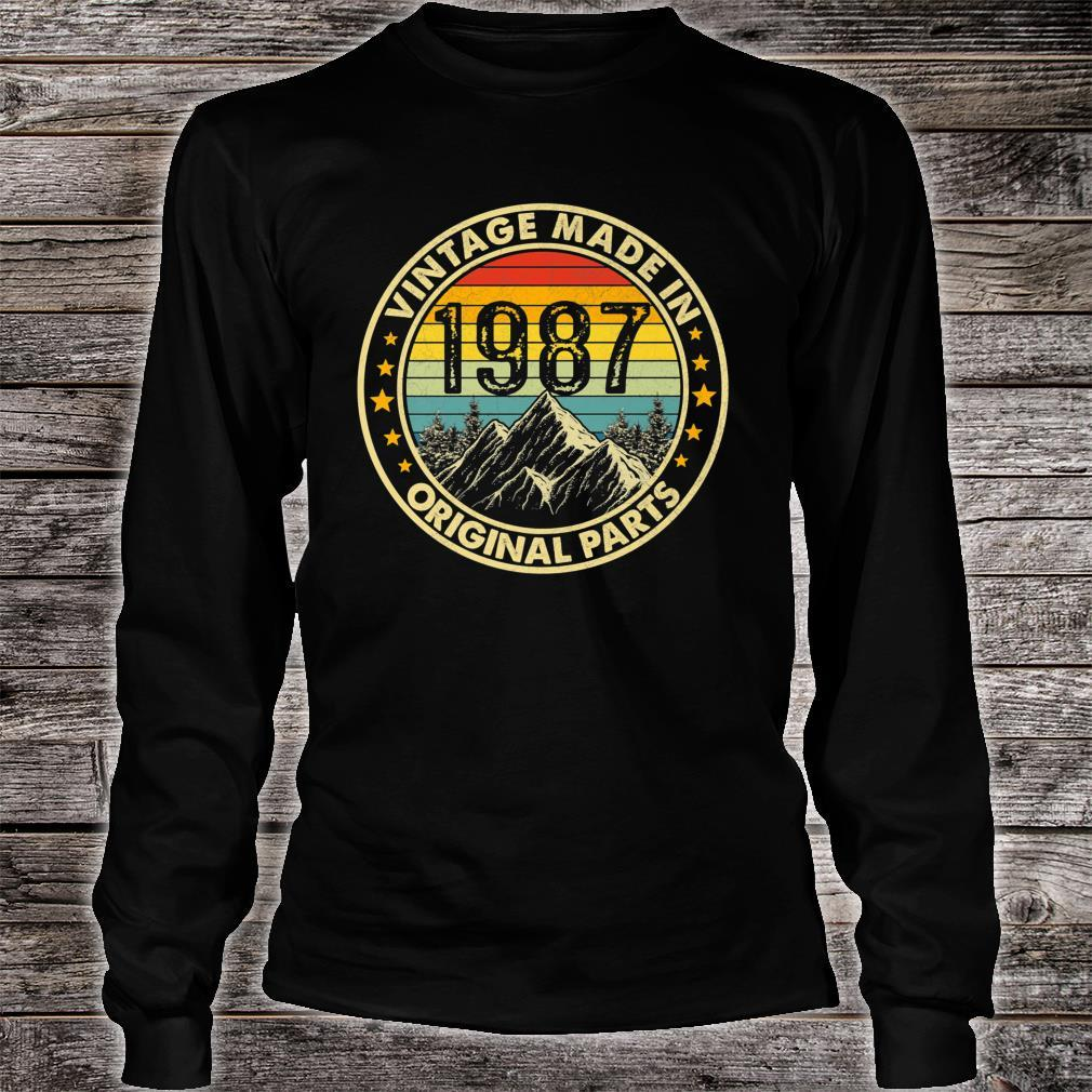 Vintage 1987 Limited Edition 34th Bday Shirt long sleeved