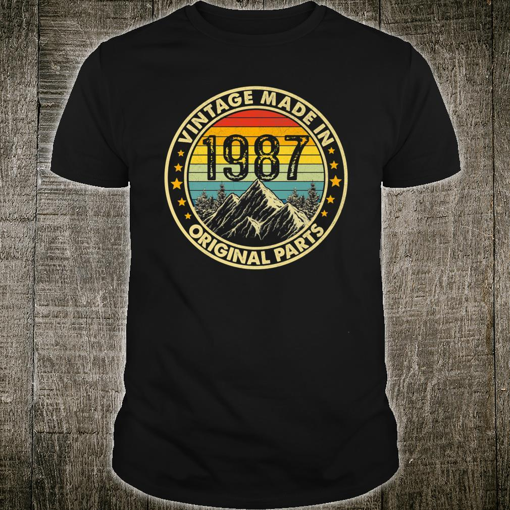 Vintage 1987 Limited Edition 34th Bday Shirt