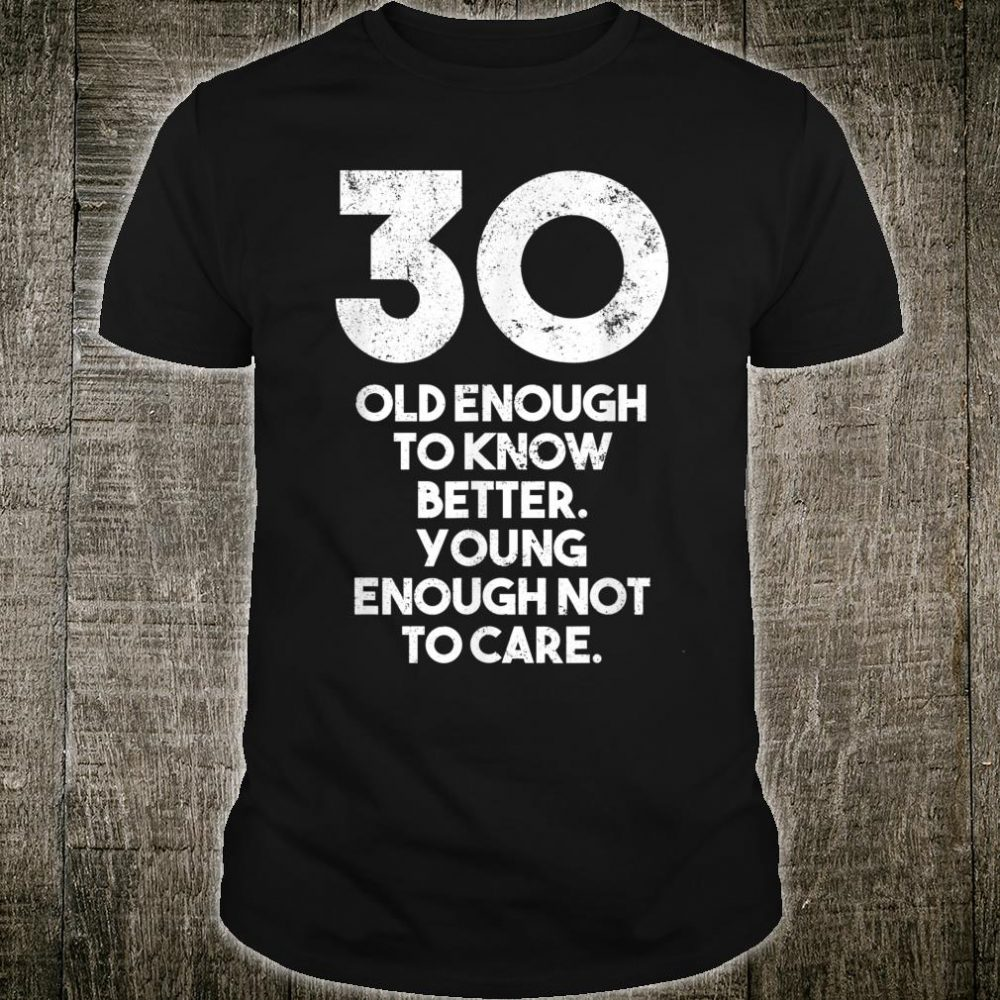Vintage 30 year old birthday Shirt