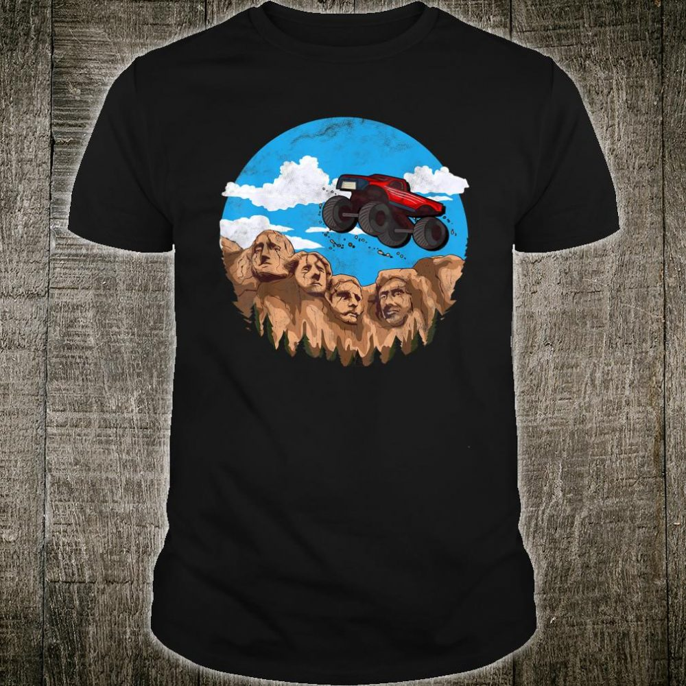 Vintage Monster truck t for boys and toddlers South Dakota Shirt