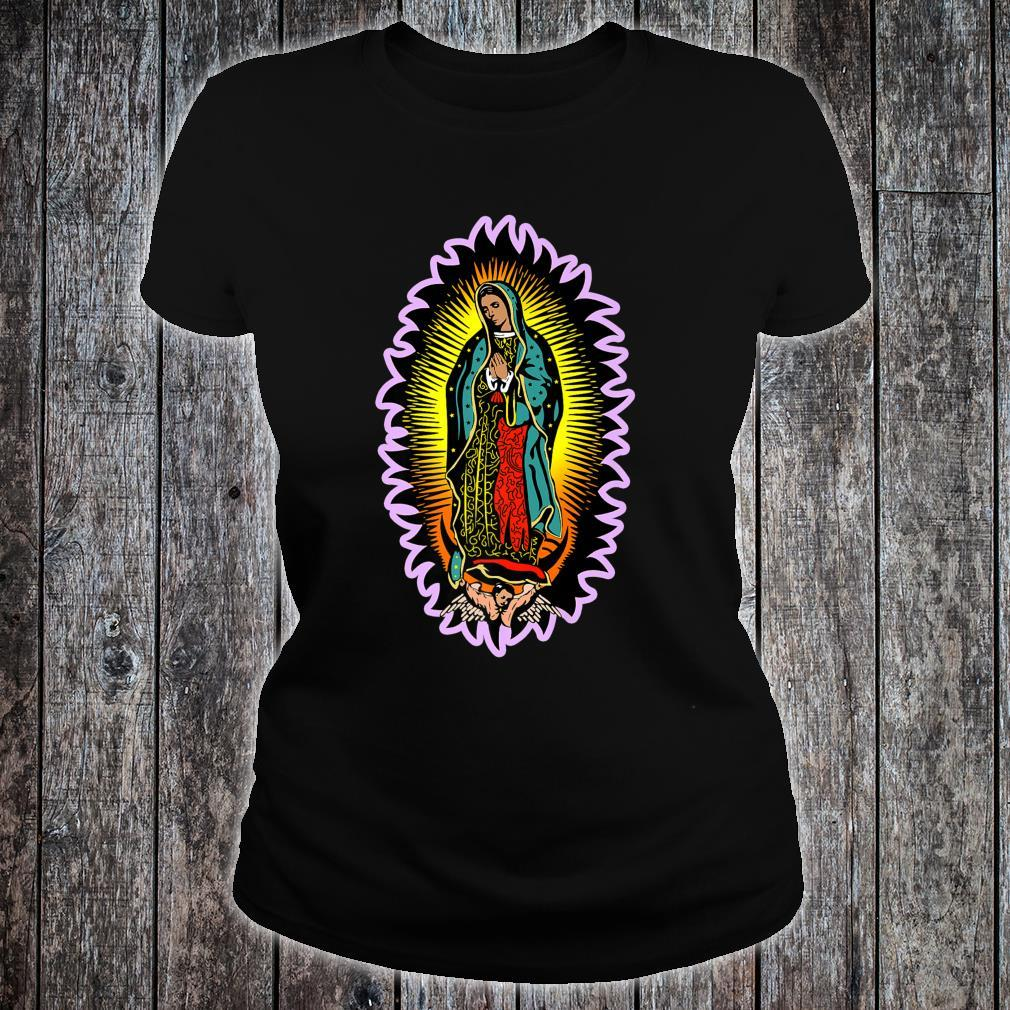 Virgin Mary Our Lady of Guadalupe Catholic Shirt ladies tee