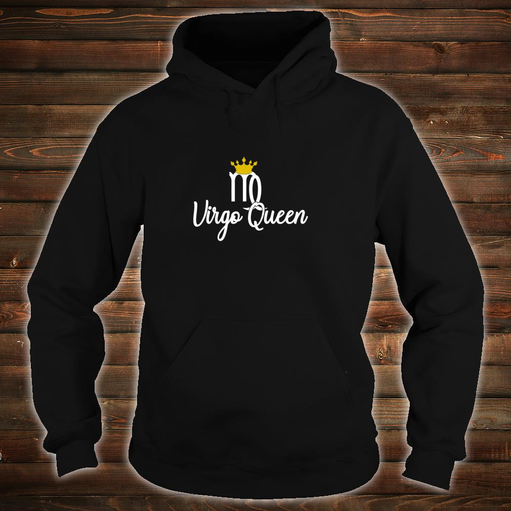 Virgo Queen Zodiac Sign August September Birthday With Crown Pullover Shirt hoodie