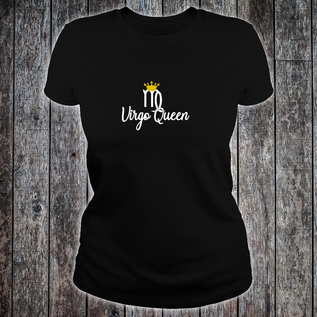 Virgo Queen Zodiac Sign August September Birthday With Crown Pullover Shirt ladies tee