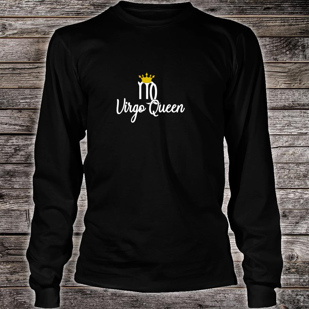 Virgo Queen Zodiac Sign August September Birthday With Crown Pullover Shirt Long sleeved