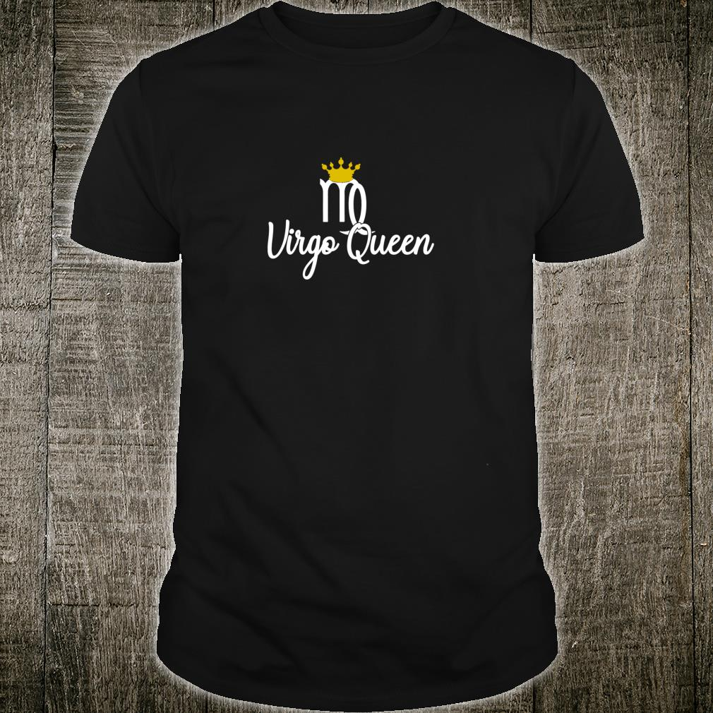 Virgo Queen Zodiac Sign August September Birthday With Crown Pullover Shirt