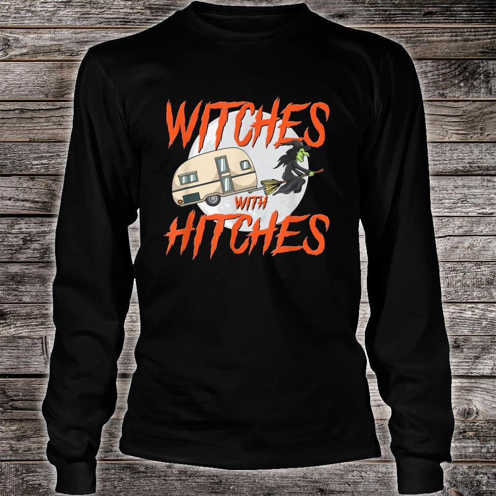 Witches With Hitches Camping Caravan Halloween Witch Shirt long sleeved