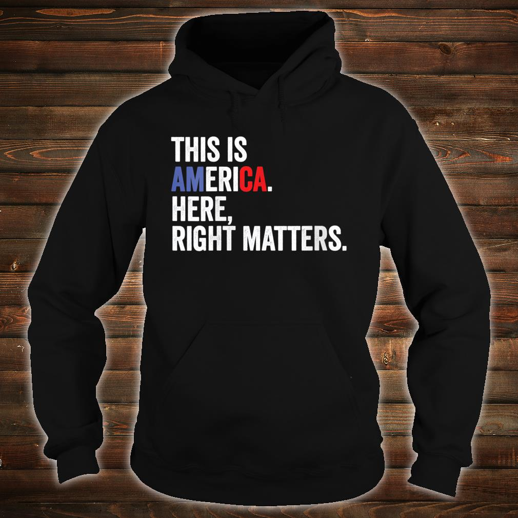 Womens Here Right Matters Political USA Vindman Quote Shirt hoodie