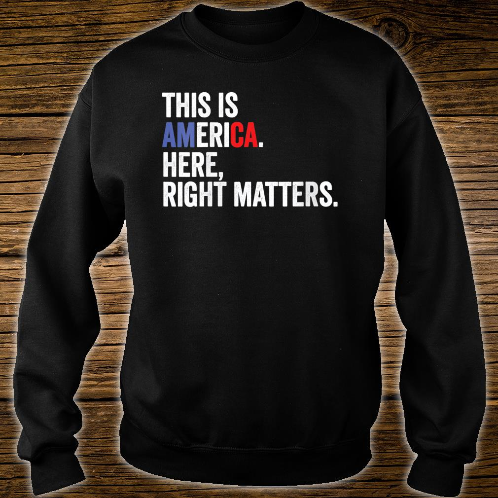 Womens Here Right Matters Political USA Vindman Quote Shirt sweater