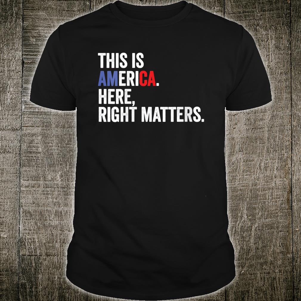 Womens Here Right Matters Political USA Vindman Quote Shirt